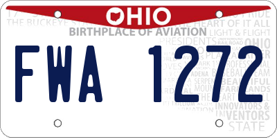 OH license plate FWA1272
