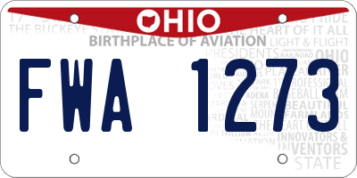 OH license plate FWA1273