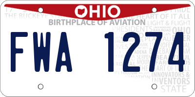 OH license plate FWA1274