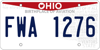 OH license plate FWA1276