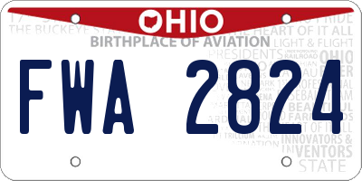 OH license plate FWA2824