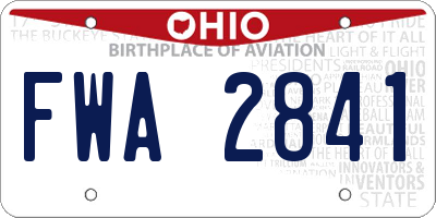 OH license plate FWA2841