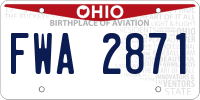 OH license plate FWA2871