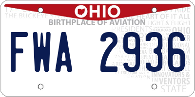 OH license plate FWA2936