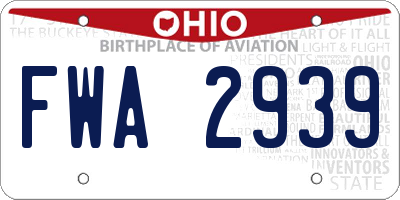OH license plate FWA2939