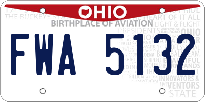 OH license plate FWA5132