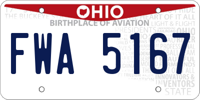 OH license plate FWA5167
