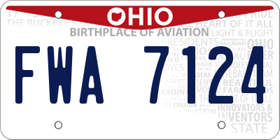 OH license plate FWA7124