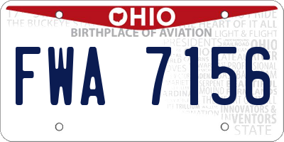 OH license plate FWA7156