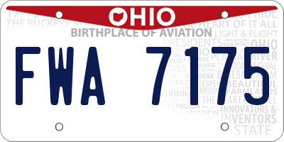 OH license plate FWA7175