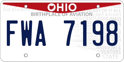 OH license plate FWA7198
