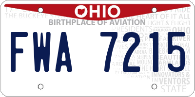 OH license plate FWA7215