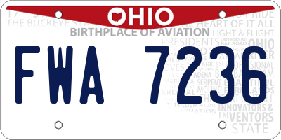 OH license plate FWA7236