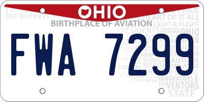 OH license plate FWA7299