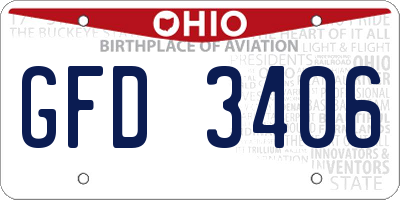 OH license plate GFD3406