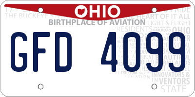 OH license plate GFD4099