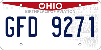 OH license plate GFD9271