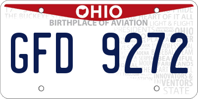 OH license plate GFD9272