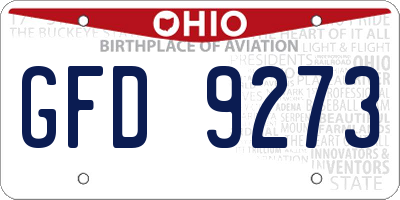 OH license plate GFD9273