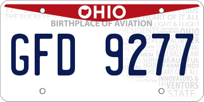 OH license plate GFD9277