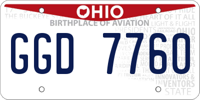 OH license plate GGD7760