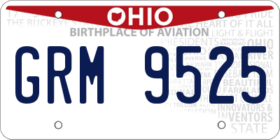 OH license plate GRM9525