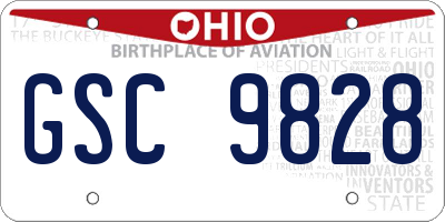 OH license plate GSC9828