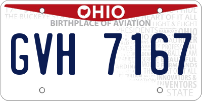 OH license plate GVH7167