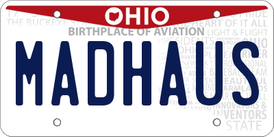 OH license plate MADHAUS