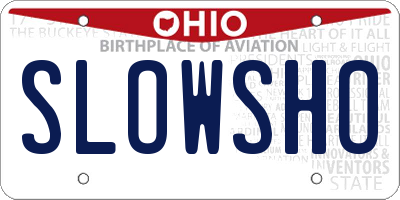 OH license plate SLOWSHO