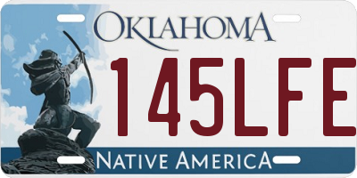 OK license plate 145LFE