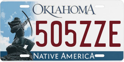 OK license plate 505ZZE