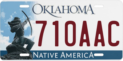 OK license plate 710AAC