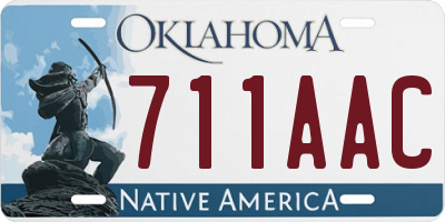 OK license plate 711AAC