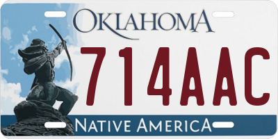 OK license plate 714AAC
