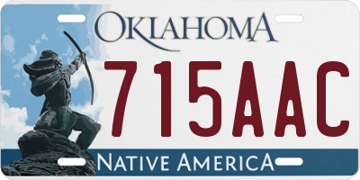 OK license plate 715AAC