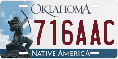 OK license plate 716AAC