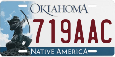 OK license plate 719AAC