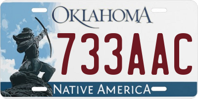 OK license plate 733AAC