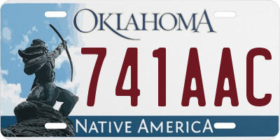 OK license plate 741AAC