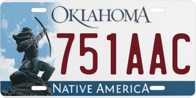 OK license plate 751AAC