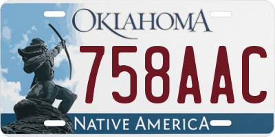 OK license plate 758AAC