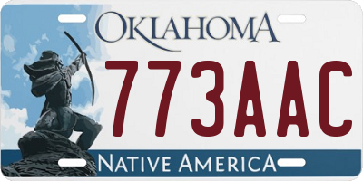 OK license plate 773AAC