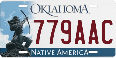 OK license plate 779AAC