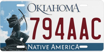 OK license plate 794AAC