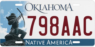 OK license plate 798AAC
