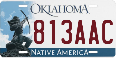 OK license plate 813AAC