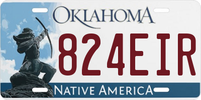 OK license plate 824EIR