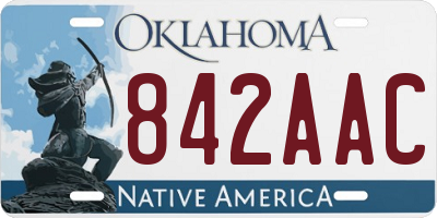 OK license plate 842AAC