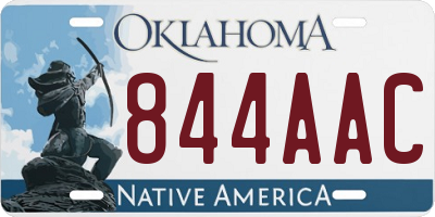 OK license plate 844AAC